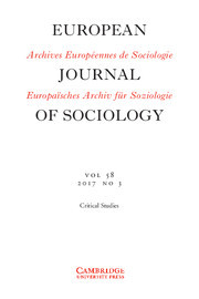 European Journal of Sociology / Archives Européennes de Sociologie template (Cambridge University Press)