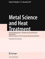 Metal Science and Heat Treatment template (Springer)