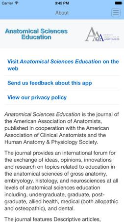 Anatomical Sciences Education template (Wiley)