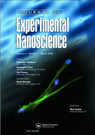 Journal of Experimental Nanoscience template (Taylor and Francis)
