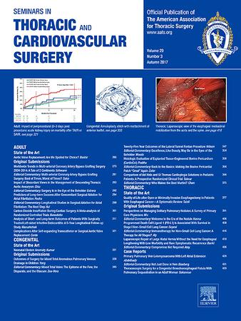 Seminars in Thoracic and Cardiovascular Surgery template (Elsevier)