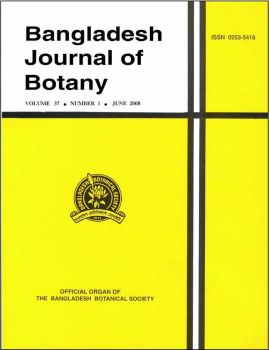 Bangladesh Journal of Botany - Short Communication template (Bangladesh Botanical Society)