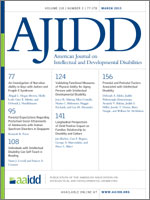 American Journal on Intellectual and Developmental Disabilities template (American Association on Intellectual and Developmental Disabilities)