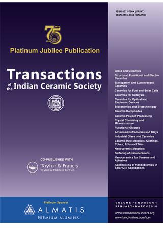 Transactions of the Indian Ceramic Society template (Taylor and Francis)