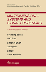 Multidimensional Systems and Signal Processing template (Springer)
