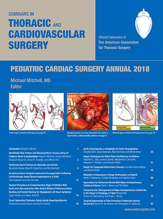 Seminars in Thoracic and Cardiovascular Surgery: Pediatric Cardiac Surgery Annual template (Elsevier)