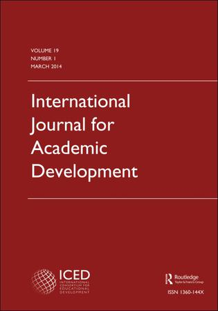 International Journal for Academic Development template (Taylor and Francis)