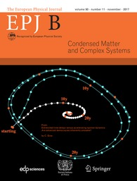 The European Physical Journal B: Condensed Matter and Complex Systems template (EDP Sciences)