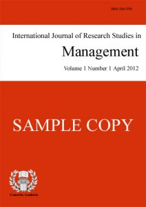 International Journal of Research Studies in Management (IJRSM) template (Consortia Academia)