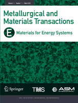 Metallurgical and Materials Transactions E template (Springer)