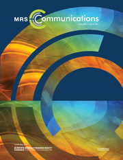 MRS Communications template (Cambridge University Press)