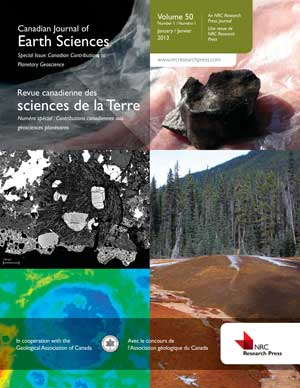 Canadian Journal of Earth Sciences template (NRC Research Press)