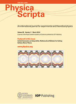 Physica Scripta template (IOP Publishing)