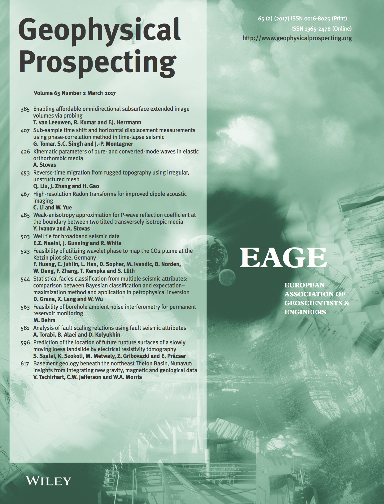 Geophysical Prospecting template (Wiley)