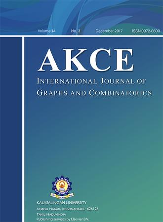 AKCE International Journal of Graphs and Combinatorics template (Elsevier)