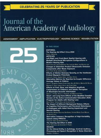 Journal of the American Academy of Audiology template (American Academy of Audiology)
