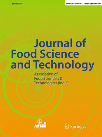 Springer Journal Of Food Science And Technology Template