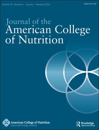 Journal of the American College of Nutrition template (Taylor and Francis)