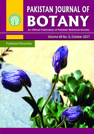 Pakistan Journal of Botany template (Pakistan Botanical Society)