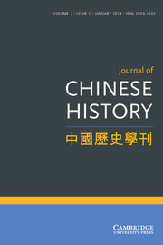 Journal of Chinese History 中國歷史學刊 template (Cambridge University Press)