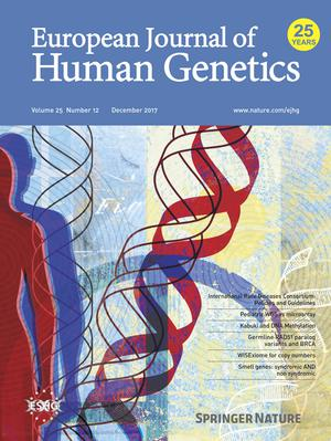 European Journal of Human Genetics template (Nature)
