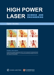 High Power Laser Science and Engineering template (Cambridge University Press)