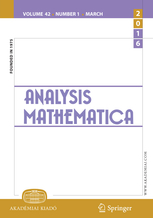 Analysis Mathematica template (Springer)