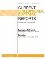 Current Developmental Disorders Reports template (Springer)