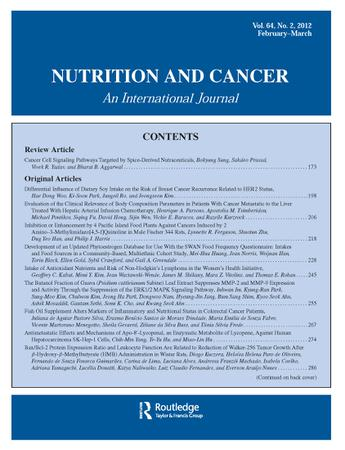 Nutrition and Cancer template (Taylor and Francis)