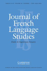 Journal of French Language Studies template (Cambridge University Press)
