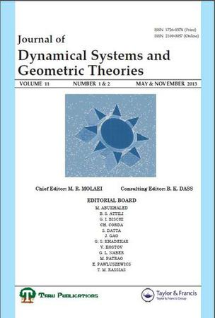 Journal of Dynamical Systems and Geometric Theories template (Taylor and Francis)