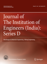 Journal of The Institution of Engineers (India): Series D template (Springer)