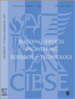 Building Services Engineering Research and Technology template (SAGE)