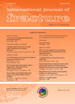 International Journal of Fracture template (Springer)
