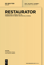 Restaurator. International Journal for the Preservation of Library and Archival Material template (De Gruyter)