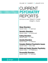 Current Psychiatry Reports template (Springer)
