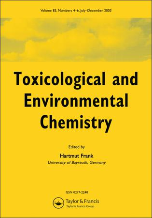 Toxicological and Environmental Chemistry template (Taylor and Francis)