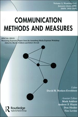 Communication Methods and Measures template (Taylor and Francis)
