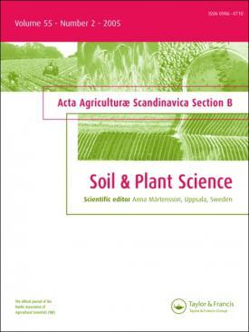 Acta Agriculturae Scandinavica, Section B — Soil and Plant Science template ( Section B  Soil and Plant Science)