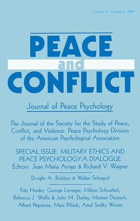 Peace and Conflict: Journal of Peace Psychology template (Taylor and Francis)