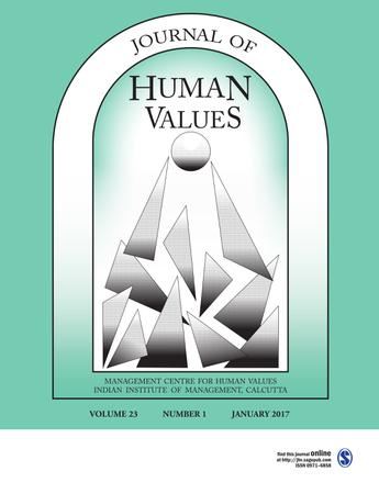 Journal of Human Values template (SAGE)