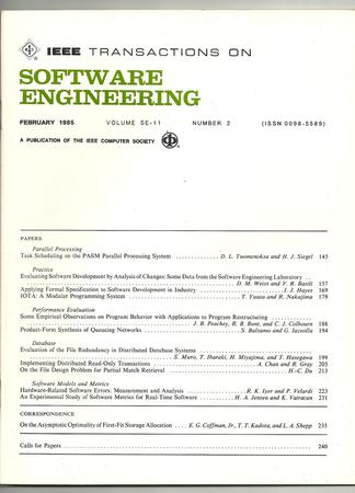 IEEE Transactions on Software Engineering template (IEEE)
