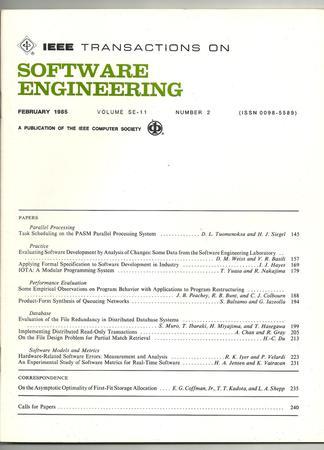 IEEE Transactions on Software Engineering template (IEEE)