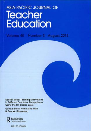 Asia-Pacific Journal of Teacher Education template (Taylor and Francis)
