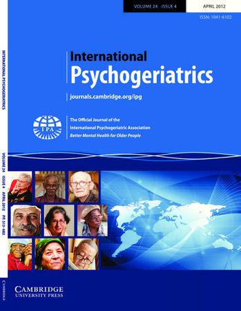 International Psychogeriatrics template (Cambridge University Press)