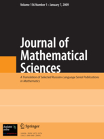 Journal of Mathematical Sciences template (Springer)