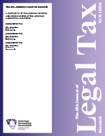 The ATA Journal of Legal Tax Research template (American Accounting Association)