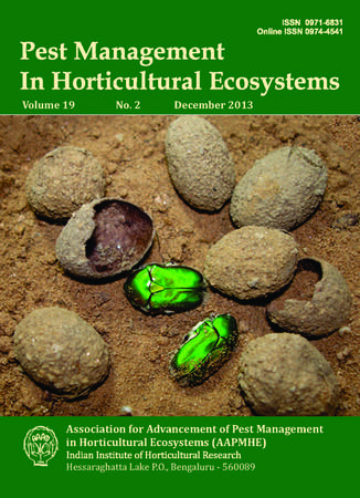 Pest Management in Horticultural Ecosystems template (IOS Press)