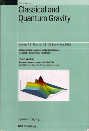 Classical and Quantum Gravity template (IOP Publishing)
