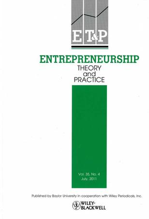 Entrepreneurship Theory and Practice template (Wiley)